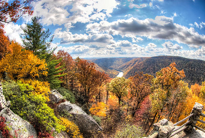 The Cheat River Gorge from Cooper's Rock on a beautiful fall day.