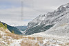 Hiking Plain of Six Glaciers Trail,<br /> Lake Louise Background,<br /> Banff National Park, Alberta, Canada