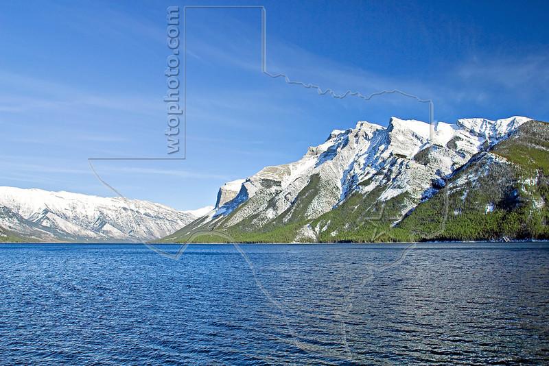 Lake Minnewanka and Mount Inglismaldie, <br /> Banff National Park, Alberta, Canada