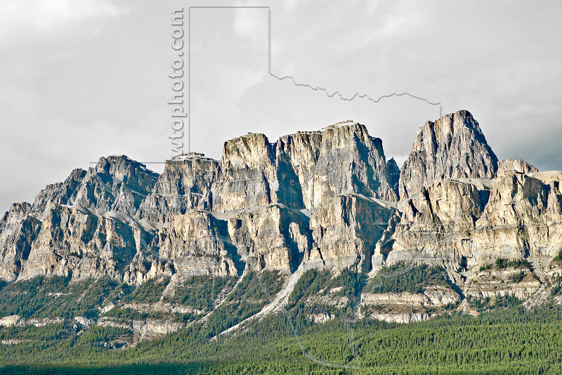 Castle Mountain,<br /> Banff National Park, Alberta, Canada