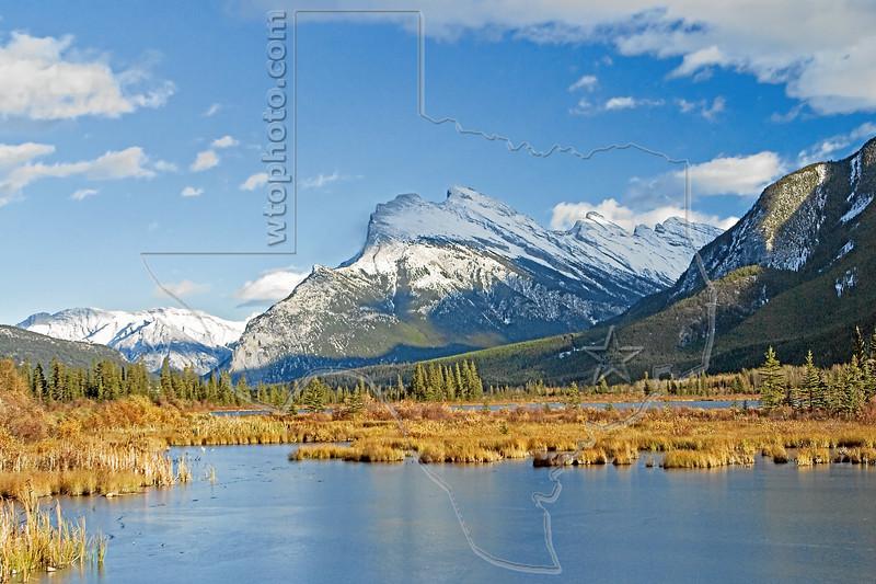 Mt. Rundle and Vermillion Lake, <br /> Banff National Park, Alberta, Canada
