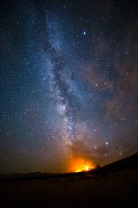 Milky Way caught fire last night