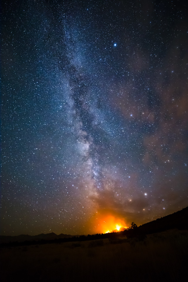 Milky Way caught fire last night