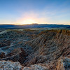 Sunset at Fonts Point, Anza Borrego State Park, California
