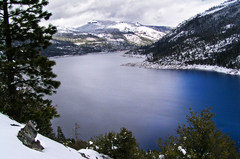 Hell Hole Reservoir in Winter, CA.