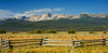 Sawtooth Mountains & Fence, Idaho