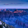 Grand Canyon View from North Rim at Sunset