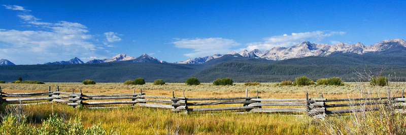Sawtooth Mountains & Fence 2, Idaho