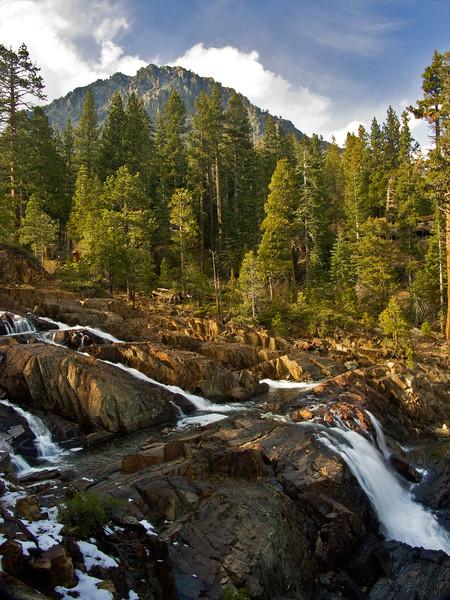 Falls above Fallen Leaf Lake, CA.
