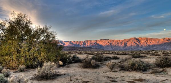 Sunset in Anza Borrego Desert State Park, California