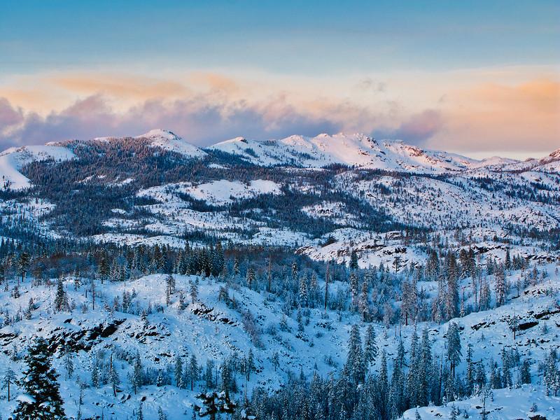 Winter Sunset, High Sierra, CA