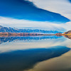 Owens Lake with Sierra Nevada, California