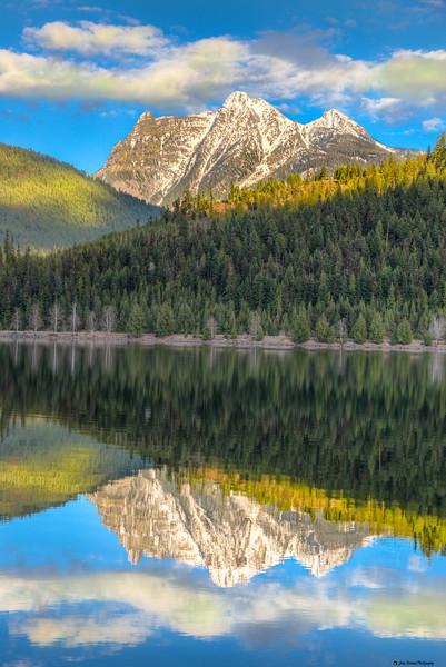 Ibex Peak Reflection on Bull Lake