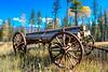 Old Log Wagon near Condon Montana II