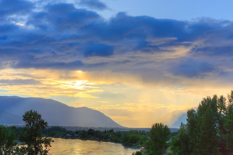 Rain, Sun, and Clouds over the Clarksfork River near Plains Montana -  3