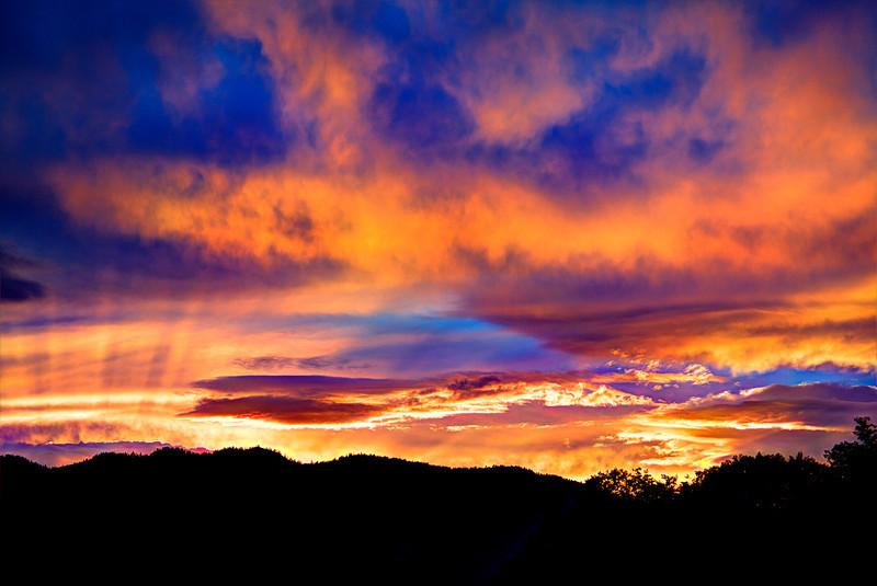 Sunset near Dixon Montana