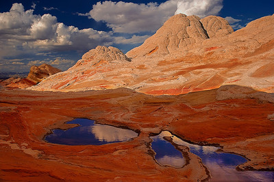 sky reflections in pools at the White Pocket, Vermilion Cliffs National Monument, Arizona