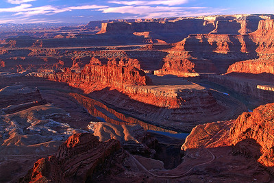 ref14: Early morning at Dead Horse Point State Park in southern Utah.  Bill's original capture was on film in 2002.