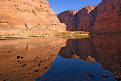 r Bill's image of Colorado River reflections in Marble Canyon.