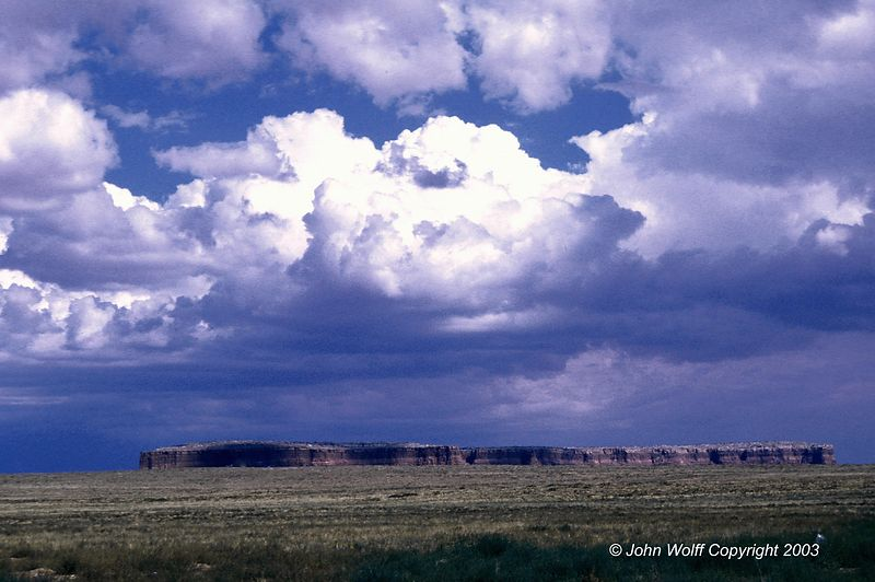 <b> Storm Clouds over Red Mesa in Arizona </b>