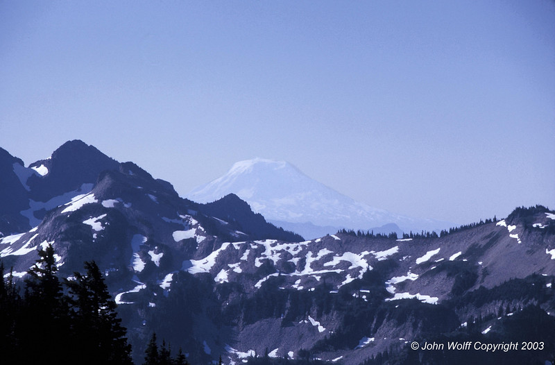 <b> Mt Adams from Mt Ranier - 1970 </b>