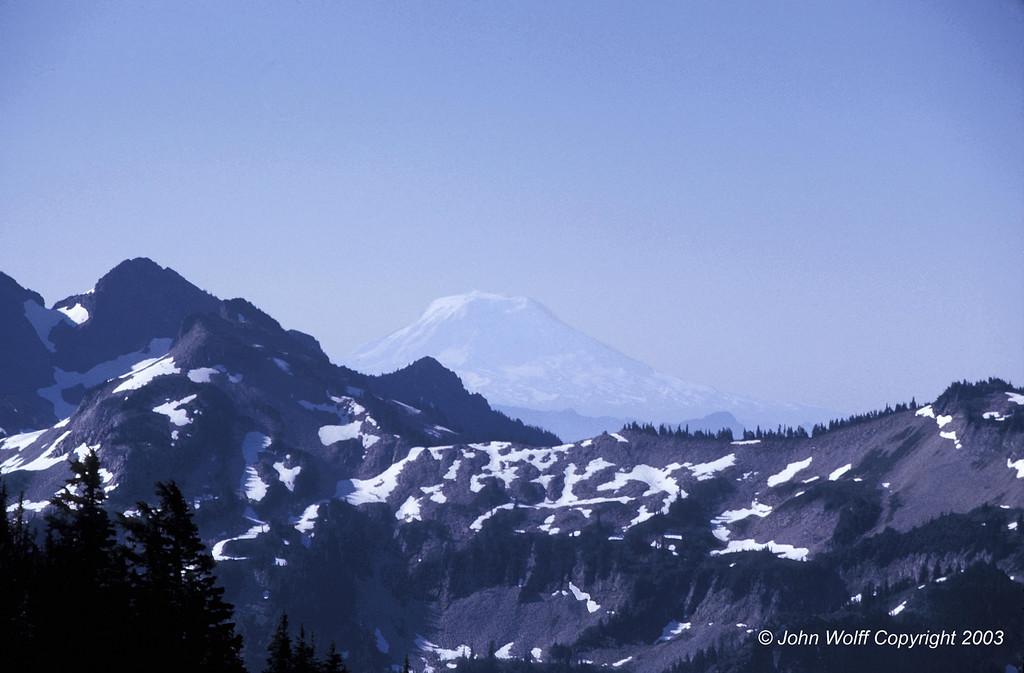 <b> Mt Adams from Mt Ranier - 1970 </b>
