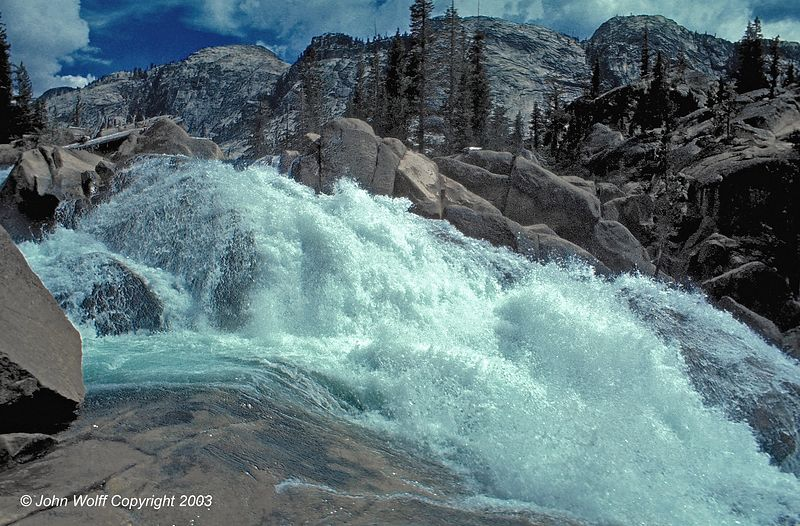 <b> Water power - Waterwheel Falls, Yosemite National Park </b>