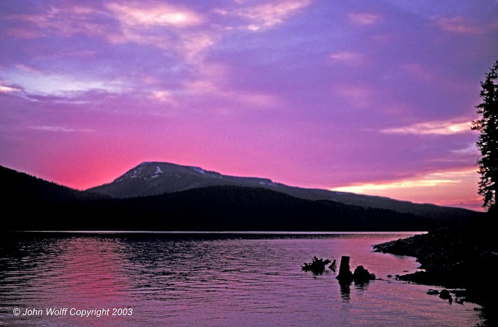 <b> Sunset from Jenny Lake - Grand Teton National Park </b>