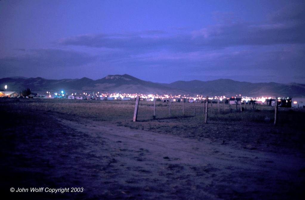 <b> Helena, Montana at dusk </b>