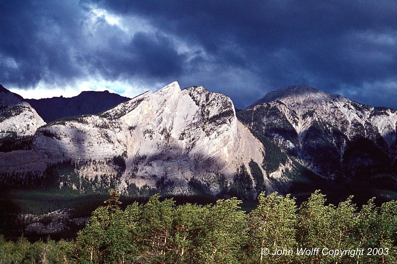 <b> Storm clouds, Canadian Rockies </b>