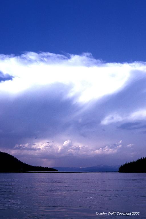<b> Clouds over Jenny Lake, Grand Teton National Park </b>