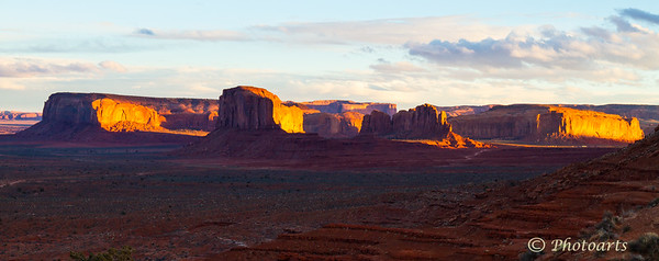 """Sunset Fire, Monument Valley"""