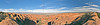 Panorama (180-degree) - on Devil's Garden Trail,<br /> Arches National Park, Utah