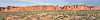 Panorama - Petrified Sand Dunes andThe Great Wall, Sunrise,<br /> Arches National Park, Utah