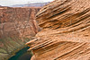 Sharp Sandstone and Colorado River,<br /> near Page, Arizona