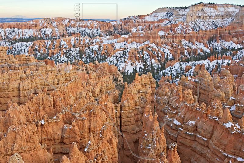 Sandstone Hoodoos, Twilight,<br /> Bryce Canyon National Park, Utah