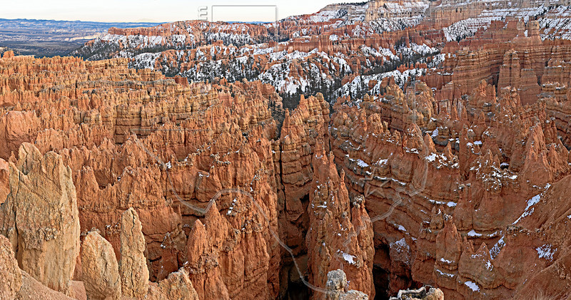 Panorama - Sandstone Hoodoos, Twilight<br /> Bryce Canyon National Park, Utah