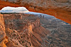 Mesa Arch at Sunrise,<br /> Canyonlands National Park, Utah