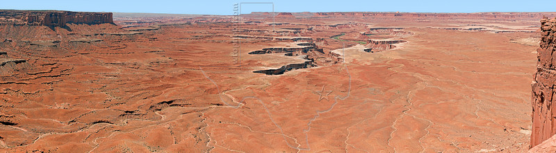 Panorama - Green River Overlook from Grand Viewpoint Overlook,<br /> Canyonlands National Park, Utah