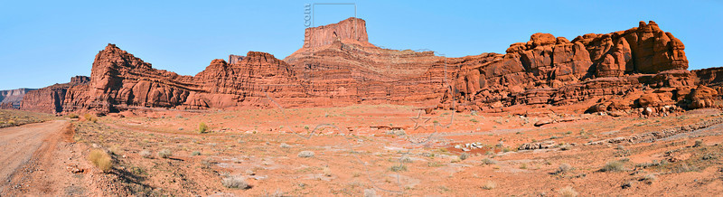 Panorama - Desert Canyon Vista, Shafer Trail,<br /> Canyonlands National Park, Utah<br /> (Dead Horse Point in center)