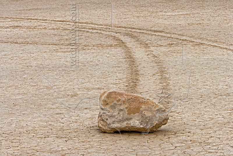 Sailing Rock, Racetrack Playa, <br /> Death Valley National Park, California