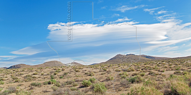Multiple Layers of Lenticular Clouds,<br /> near Death Valley National Park