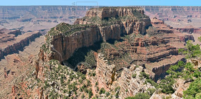 Panorama - Cape Royal Viewpoint,<br /> Grand Canyon National Park, North Rim