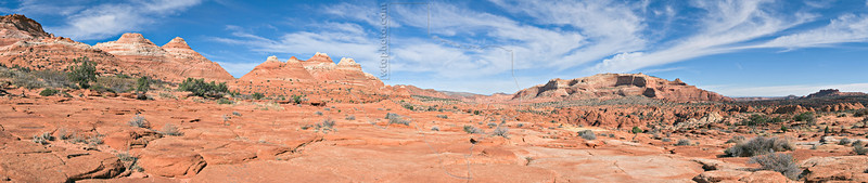 "Panorama - Along the Trail to ""The Wave""<br /> Paria Canyon-Vermilion Cliffs Wilderness, Utah, Arizona"