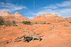 Sandstone Tepees on Trail to The Wave,<br /> North Coyote Buttes,<br /> Paria Canyon-Vermilion Cliffs Wilderness, Utah-Arizona