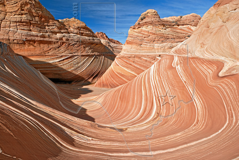 THE Wave,<br /> North Coyote Buttes,<br /> Paria Canyon-Vermilion Cliffs Wilderness, Utah-Arizona