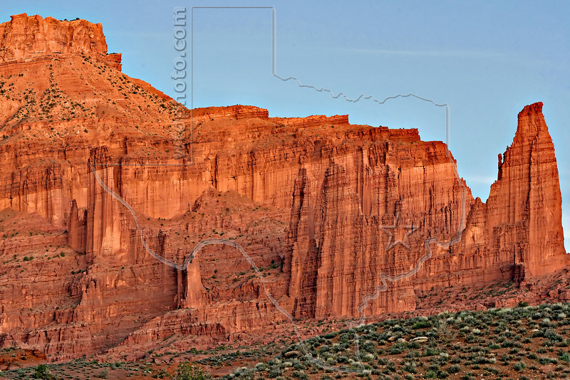 Fisher Towers at Twilight,<br /> Near Moab, Utah