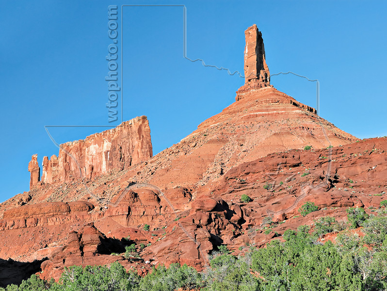 The Rectory and Castleton Tower, <br /> Near Moab, Utah