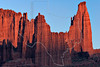 Fisher Towers at Sunset,<br /> near Moab, Utah