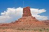 Sandstone Pinnacle and Monsoon Thunderhead,<br /> Valley of the Gods,<br /> near Mexican Hat, Utah